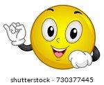 illustration of a smiley mascot ... | Shutterstock .eps vector #730377445