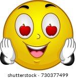 illustration of a smiley mascot ...   Shutterstock .eps vector #730377499