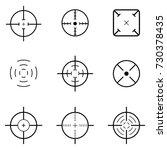 crosshair icon set | Shutterstock .eps vector #730378435