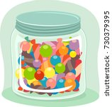 Illustration Of A Full Candy...