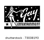 gay entertainment   retro ad... | Shutterstock .eps vector #73038193
