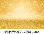 fancy gold glitter sparkle... | Shutterstock . vector #730382365