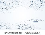 structure molecule and... | Shutterstock .eps vector #730386664