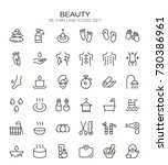 spa icon set. collection of... | Shutterstock .eps vector #730386961