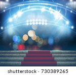 stage lighting background 3d... | Shutterstock . vector #730389265