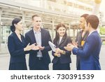 portrait group of business... | Shutterstock . vector #730391539