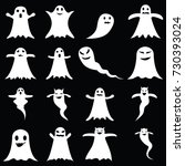 ghost icon set   Shutterstock .eps vector #730393024