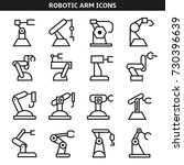 robotic arm icons  | Shutterstock .eps vector #730396639