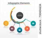 modern business timeline...   Shutterstock .eps vector #730404634