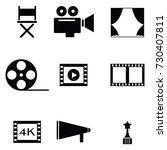 movie icon set | Shutterstock .eps vector #730407811