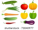 illustration of set of fresh... | Shutterstock .eps vector #73040977