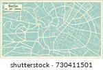 berlin germany map in retro... | Shutterstock .eps vector #730411501