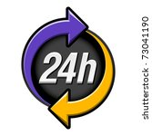 24 hours sign. vector. | Shutterstock .eps vector #73041190