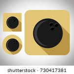 flat icon bowling ball  vector...   Shutterstock .eps vector #730417381