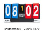small sports score board... | Shutterstock . vector #730417579