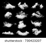 Collection Whtie Clouds Isolated Black - Fine Art prints
