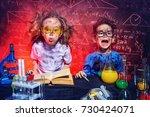 funny little children doing... | Shutterstock . vector #730424071