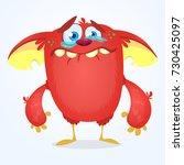 crying cute monster cartoon....   Shutterstock .eps vector #730425097