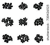 frangipani silhouette | Shutterstock .eps vector #730426525