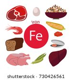 products rich with iron. bases... | Shutterstock .eps vector #730426561