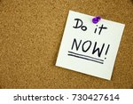 a reminder to do it now message ... | Shutterstock . vector #730427614