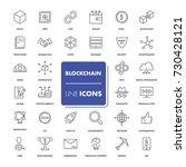 line icons set. blockchain pack.... | Shutterstock .eps vector #730428121