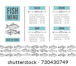 hand drawing vector seafood... | Shutterstock .eps vector #730430749