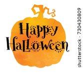 happy halloween  hand drawn... | Shutterstock .eps vector #730430809