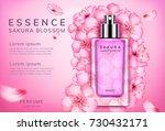 sakura perfume ads  realistic... | Shutterstock .eps vector #730432171