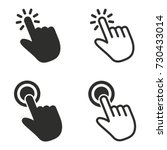 touch vector icons set. black... | Shutterstock .eps vector #730433014