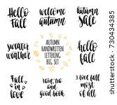 autumn quotes lettering set.... | Shutterstock .eps vector #730434385
