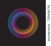 gradient rainbow circle vector... | Shutterstock .eps vector #730436791