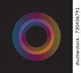 gradient rainbow circle vector... | Shutterstock .eps vector #730436791