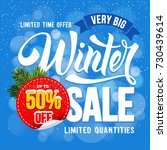 winter sale. design of trendy... | Shutterstock .eps vector #730439614