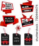 set of black friday big sale... | Shutterstock .eps vector #730444474