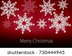 merry christmas and happy new... | Shutterstock . vector #730444945