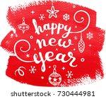 christmas calligraphy   Shutterstock .eps vector #730444981