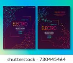 set of cards with liqud colors. ... | Shutterstock .eps vector #730445464