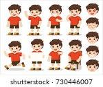 boys character set  in... | Shutterstock .eps vector #730446007