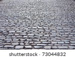 cobbled road as background | Shutterstock . vector #73044832