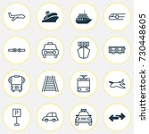 shipping icons set. collection... | Shutterstock .eps vector #730448605