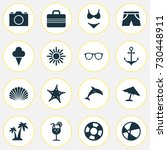 season icons set. collection of ... | Shutterstock .eps vector #730448911