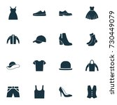 dress icons set. collection of... | Shutterstock .eps vector #730449079