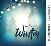 winter season design background ... | Shutterstock .eps vector #730453354