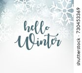 hello winter design background  ... | Shutterstock .eps vector #730453369