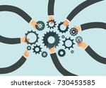 business teamwork concept.... | Shutterstock .eps vector #730453585
