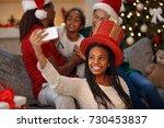 cute little afro american girl...   Shutterstock . vector #730453837