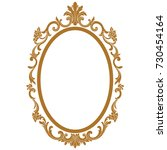 golden vintage oval graphical... | Shutterstock .eps vector #730454164