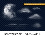 clouds white realistic isolated ... | Shutterstock .eps vector #730466341