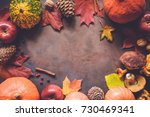 Autumn Food Border Background...